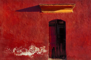 Oaxaca Red Wall • ©Barry Brukoff